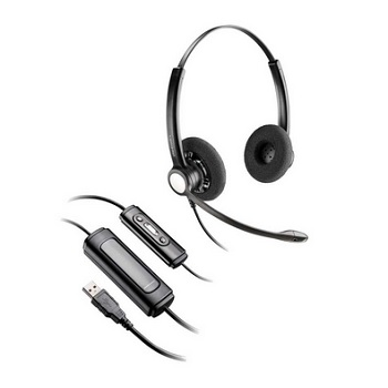 Plantronics Entera HW121N Binaural Wired Headset with Noise Cancelling
