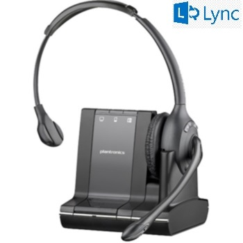 Plantronics Savi W710-M Monaural Over-the-head Wireless Headset with Microsoft Lync