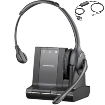 Plantronics Savi W710 Monaural Over-the-head Wireless Headset and *Electronic Hook Switch