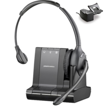 Plantronics Savi W710 Monaural Over-the-head Wireless Headset with Handset Lifter