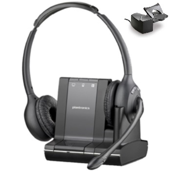 Plantronics Savi W720 Binaural Over-the-head Wireless Headset with Handset Lifter