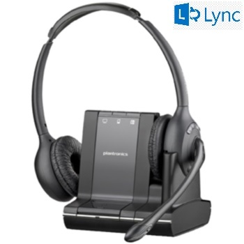 Plantronics Savi W720-M Binaural Over-the-head Wireless Headset with Microsoft Lync