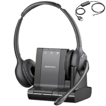 Plantronics Savi W720 Binaural Over-the-head Wireless Headset and *Electronic Hook Switch
