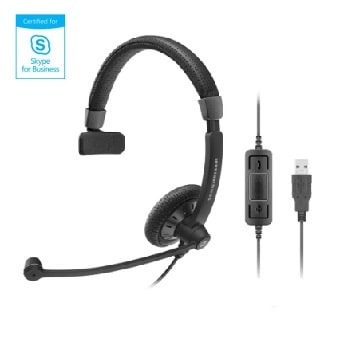 Sennheiser SC 40 USB Black Monaural UC Headset - Skype for Business