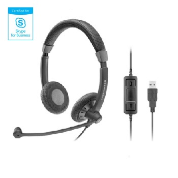 Sennheiser SC 70 USB Black Binaural UC Headset - Skype for Business
